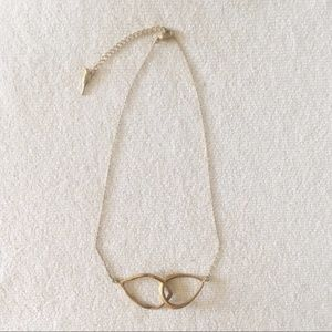 Chloe + Isabel Gold Interlocking Teardrop Necklace